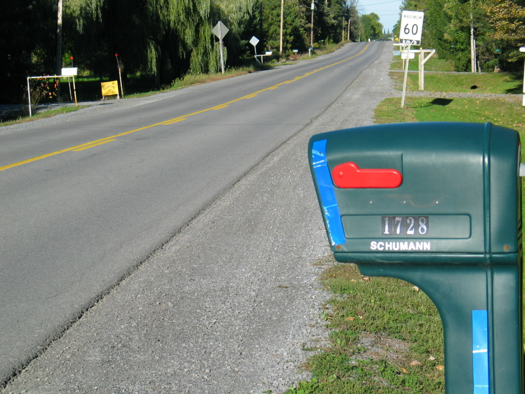 Mailbox and Road